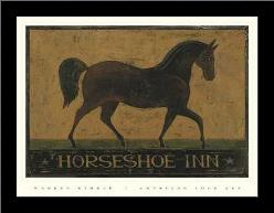 Horseshoe Inn art print poster with simple frame