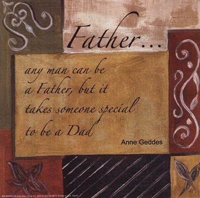 Words to Live By - Father poster print by Debbie Dewitt