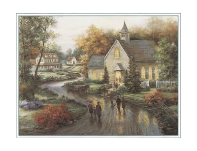 Country Church poster print by Tc Chiu