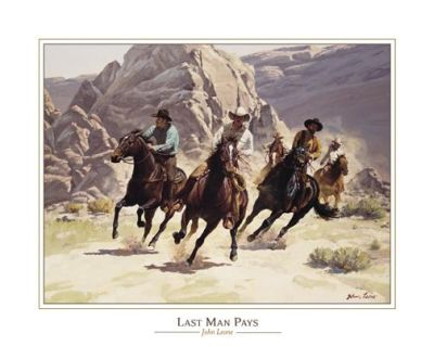 Last Man Pays poster print by John Leone