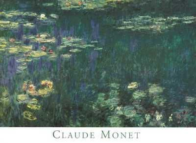 Waterlilies: Green Reflections I poster print by Claude Monet