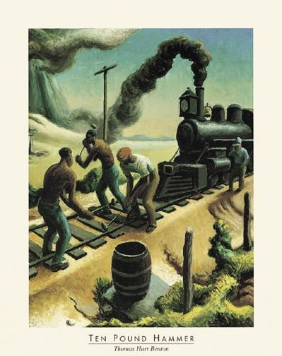 Ten Pound Hammer poster print by Thomas Hart Benton