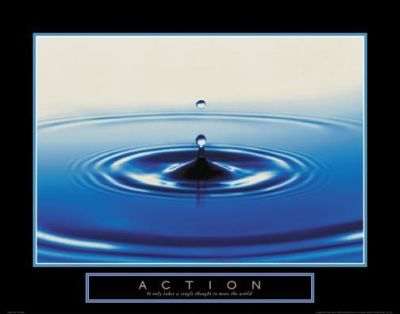 Action - Drop Of Water poster print by  Unknown