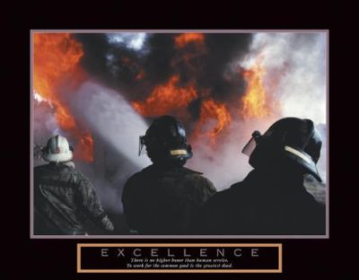 Excellence - Three Firemen poster print by  Unknown