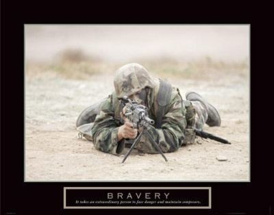 Bravery - Sniper poster print by  Motivational