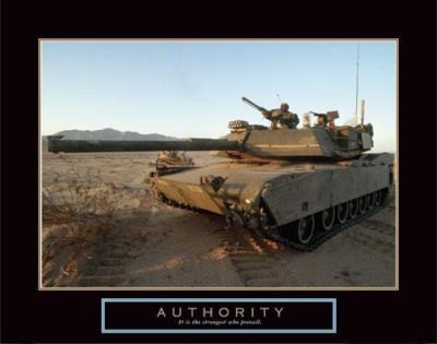 Authority - Tank poster print by  Motivational
