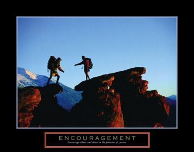 Encouragement - Climbers poster print by  Unknown