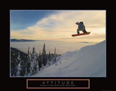 Attitude - Snow Boarder poster print by  Unknown