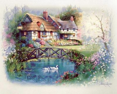 Coutnry Cottages poster print by Andres Orpinas