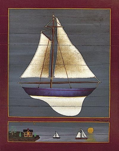 Pond Yacht IV poster print by Susan Clickner