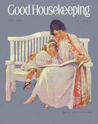 Good Housekeeping June 1924 poster print by J WilcoxSmith