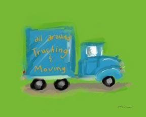All Around Trucking Moving poster print by Anthony Morrow