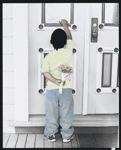 knocking on door. Boy Knocking on Door poster