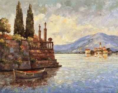 Evening Light On Lake Como poster print by John Zaccheo