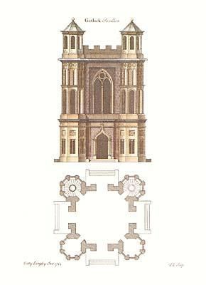 Gothic Elevations Plans {H} poster print by Batty Langley