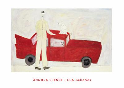 Red Car poster print by Annora Spence