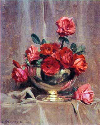 Red Roses poster print by Arthur Streeton
