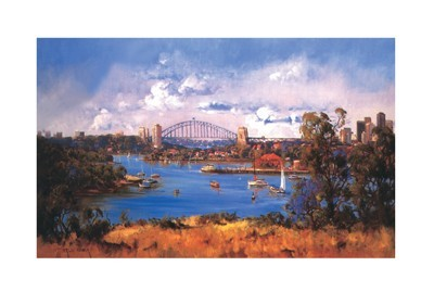 Sydney Harbour poster print by Chris Huber