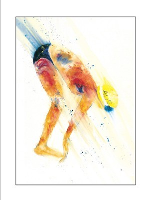 Swimmer poster print by Kim Kennedy
