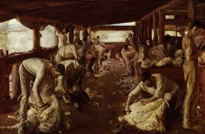 Tom Roberts - Golden Fleece Shearing