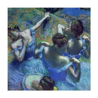 Blue Dancers, c.1899 poster print by Edgar Degas