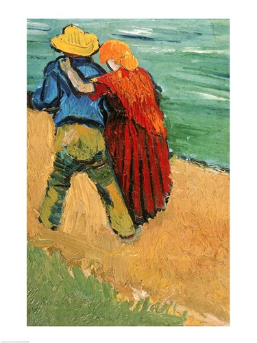A Pair of Lovers, Arles, 1888 poster print by Vincent van Gogh