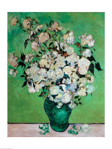 A Vase of Roses, 1890 poster print by Vincent van Gogh