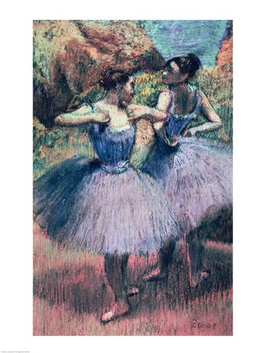Dancers in Violet poster print by Edgar Degas
