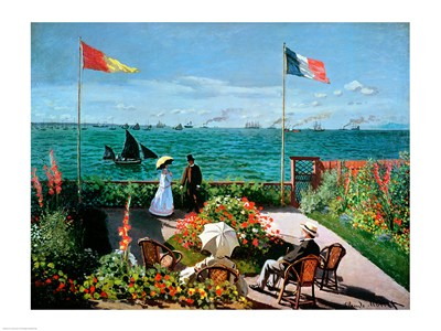 The Terrace at Sainte-Adresse, 1867 artposter print by Claude Monet