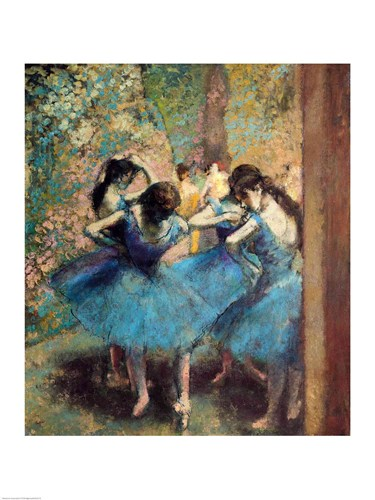 Dancers in Blue, 1890 poster print by Edgar Degas