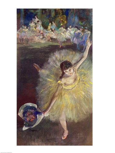 End of an Arabesque, 1877 poster print by Edgar Degas