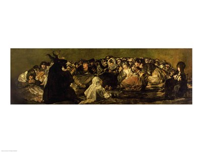 The Witches' Sabbath poster print by Francisco De Goya