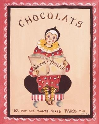 Chocolats poster print by Katharine Gracey