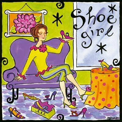 Shoe Girl poster print by Jennifer Brinley