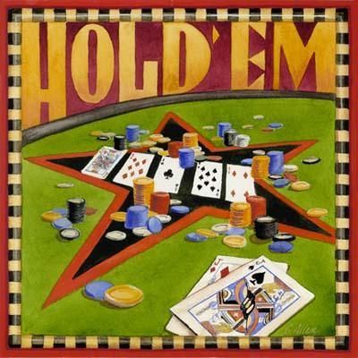 Hold 'Em Poker poster print by Geoff Allen