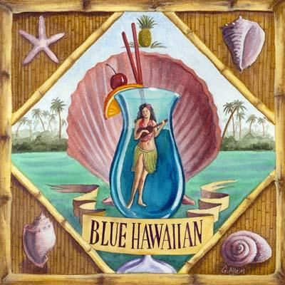 Blue Hawaiian poster print by Geoff Allen