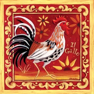 Il Gallo I poster print by Jennifer Brinley