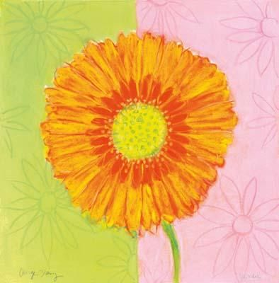 Orange Daisy poster print by Dona Turner