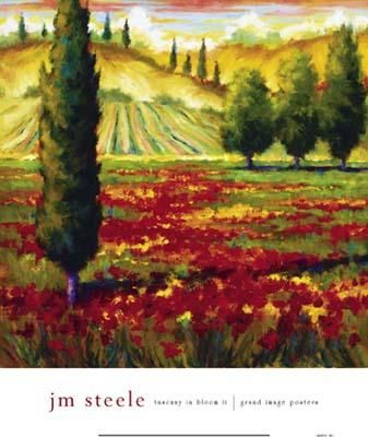 Tuscany In Bloom II poster print by Jm Steele