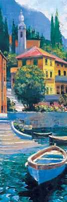 Lake Como Crossing Panel I poster print by Howard Behrens