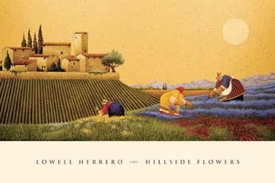 Hillside Flowers poster print by Lowell Herrero