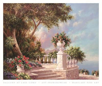Balcony At Lake Como poster print by Art Fronckowiak