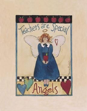 Apple Angel poster print by Barbara Mock