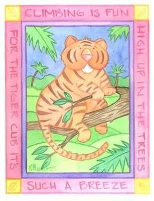 Climbing Tiger poster print by Paul Brent