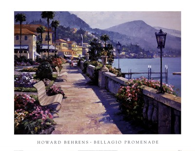 Bellagio Promenade poster print by Howard Behrens