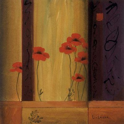 Poppy Tile I poster print by Don Li-Leger