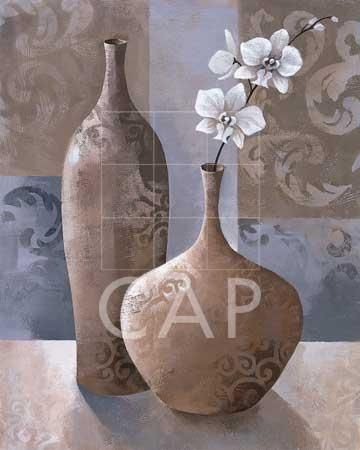 Silver Orchids I poster print by Keith Mallett