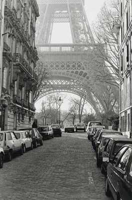 Street View Of La Tour Eiffel poster print by Clay Davidson