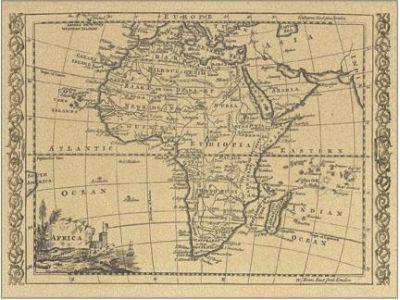 Africa 1800 Map Art Prints Posters PictureStore poster