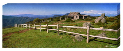 Craigs Hut Alpine National Park VIC poster print by Ken Duncan